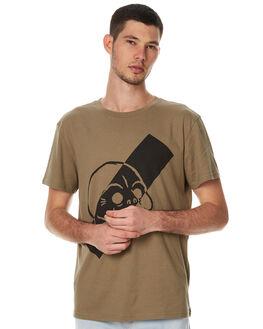 KHAKI GREEN MENS CLOTHING CHEAP MONDAY TEES - 0430407KGRN