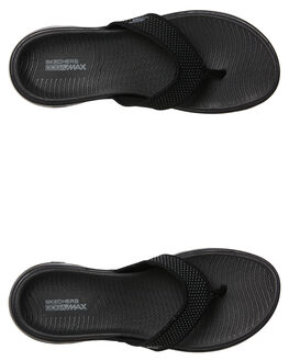 BLACK WOMENS FOOTWEAR SKECHERS THONGS - 15300BBK