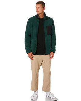 DARK GREEN MENS CLOTHING STUSSY JUMPERS - ST091207DKGRN