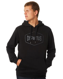 BLACK MENS CLOTHING DEPACTUS JUMPERS - D5171444BLACK