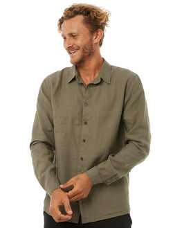 DUSTY OLIVE MENS CLOTHING AFENDS SHIRTS - M181250DOLIV