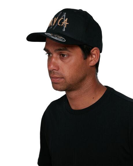 BLACK MENS ACCESSORIES RVCA HEADWEAR - RV-R105563-BLK