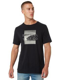 BLACK MENS CLOTHING RIP CURL TEES - CTEQJ20090