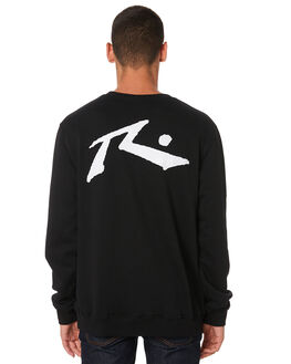 BLACK MENS CLOTHING RUSTY JUMPERS - FTM0746BLK