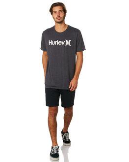 BLACK HEATHER MENS CLOTHING HURLEY TEES - AH7935035