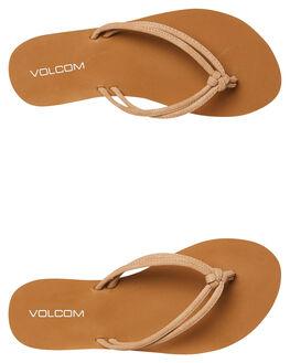 TAN BLACK WOMENS FOOTWEAR VOLCOM THONGS - W0812005TAN