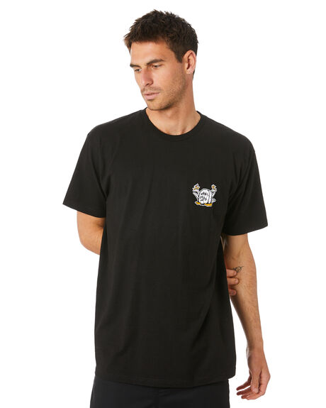 BLACK MENS CLOTHING VANS TEES - VN0A4MRSBLKBLK