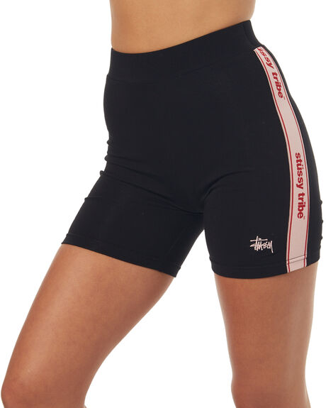 BLACK WOMENS CLOTHING STUSSY ACTIVEWEAR - ST173614BLK