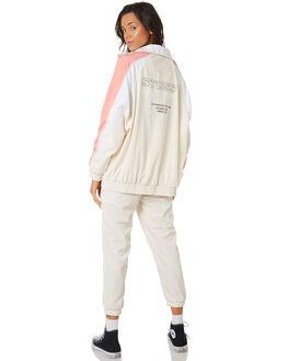 WHITE SAND WOMENS CLOTHING STUSSY JACKETS - ST197709WHTSA