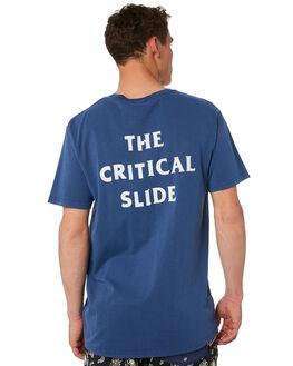 CHINA BLUE MENS CLOTHING THE CRITICAL SLIDE SOCIETY TEES - TE18105CHBLU