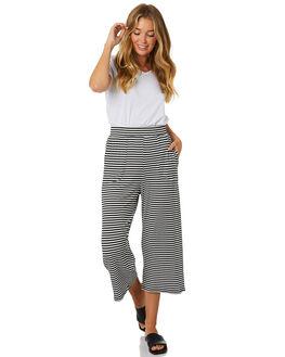 BLACK WHITE STRIPE WOMENS CLOTHING BETTY BASICS PANTS - BB711T20BKWHT
