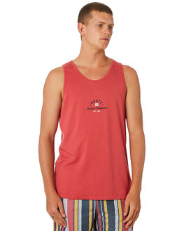 CHRYSANTHEMUM MENS CLOTHING RUSTY SINGLETS - TSM0488CRH