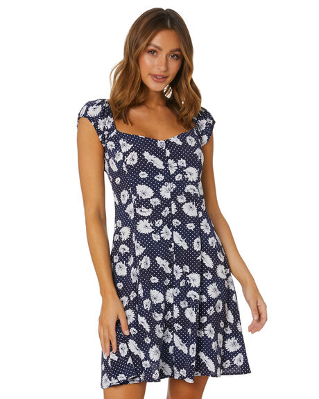 NAVY WOMENS CLOTHING ROLLAS DRESSES - 13830NAVY