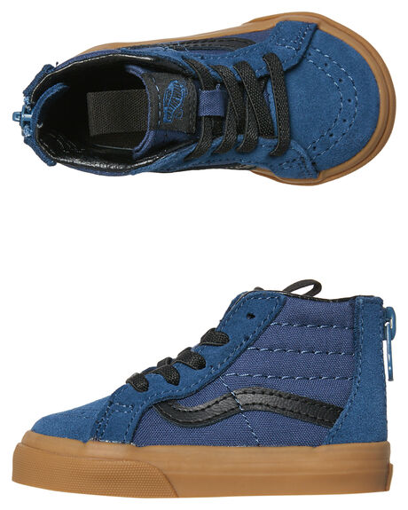 DARK DENIM KIDS BOYS VANS FOOTWEAR - VNA32R3U4CBLU