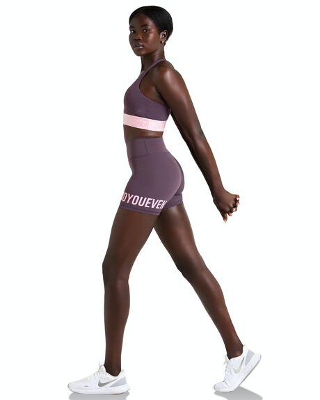 AUBERGINE PURPLE WOMENS CLOTHING DOYOUEVEN ACTIVEWEAR - I.08.XS