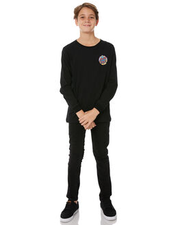 BLACK KIDS BOYS SANTA CRUZ TEES - SC-YLC8101BLK