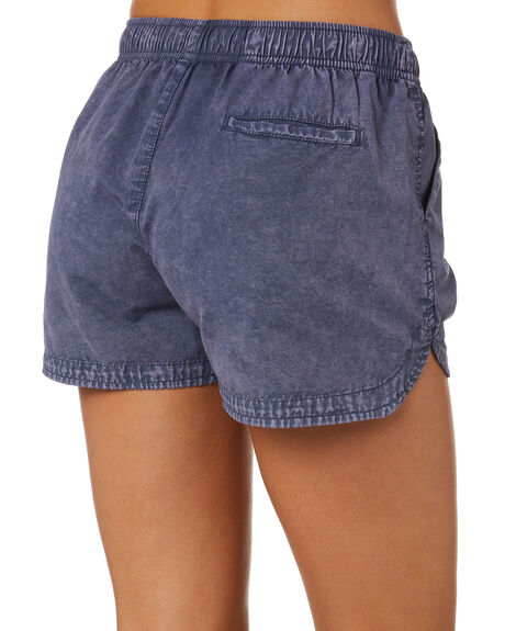 WASHED NAVY WOMENS CLOTHING SWELL SHORTS - S8189231WNVY