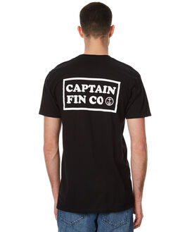 BLACK WHITE MENS CLOTHING CAPTAIN FIN CO. TEES - CT172116BWH