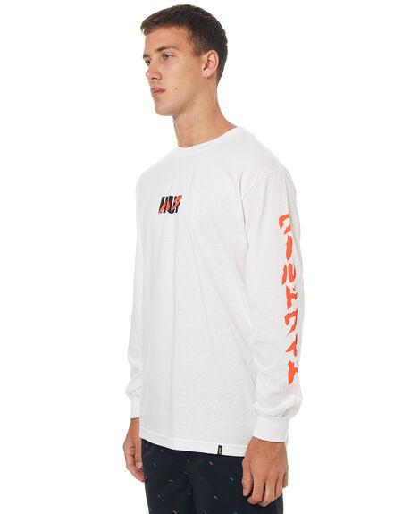 WHITE MENS CLOTHING HUF TEES - TS00139WHT