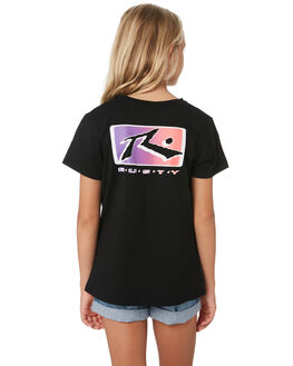 BLACK KIDS GIRLS RUSTY TOPS - TTG0002BLK