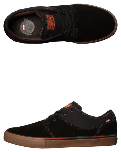 BLACK TOBACCO MENS FOOTWEAR GLOBE SKATE SHOES - GBMAHALO-10162