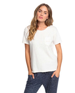 SNOW WHITE WOMENS CLOTHING ROXY TEES - ERJZT04796-WBK0