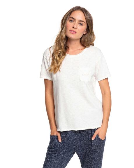 SNOW WHITE WOMENS CLOTHING ROXY TEES - ERJZT04796-WBK0