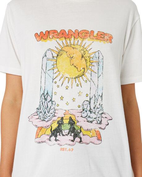 VINTAGE WHITE WOMENS CLOTHING WRANGLER TEES - W-951732-066
