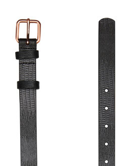 BLACK LIZARD EMBOSS WOMENS ACCESSORIES STATUS ANXIETY BELTS - SA8745BKLZD