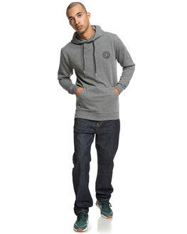 CHARCOAL HEATHER MENS CLOTHING DC SHOES JUMPERS - EDYFT03394KTEH