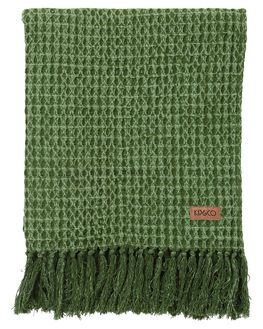 CACTUS GREEN WAFFLE WOMENS ACCESSORIES KIP AND CO HOME + BODY - SS191303CACT