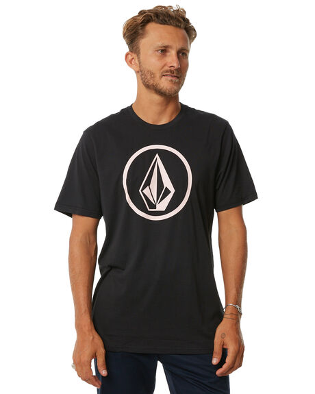 BLACK MENS CLOTHING VOLCOM TEES - A5011872BLK