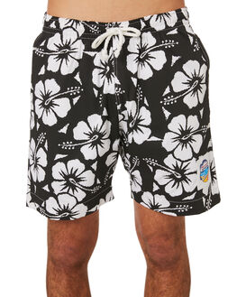 BLACK MENS CLOTHING OKANUI BOARDSHORTS - OKSOHBBLBLK