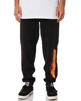 BLACK MENS CLOTHING SANTA CRUZ PANTS - SC-MFA9169BLK