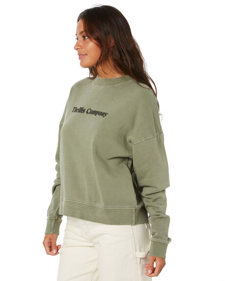 DUNE GREEN WOMENS CLOTHING THRILLS JUMPERS - WTW20-211FDGRN