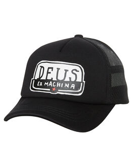 BLACK MENS ACCESSORIES DEUS EX MACHINA HEADWEAR - DMF77760BLK