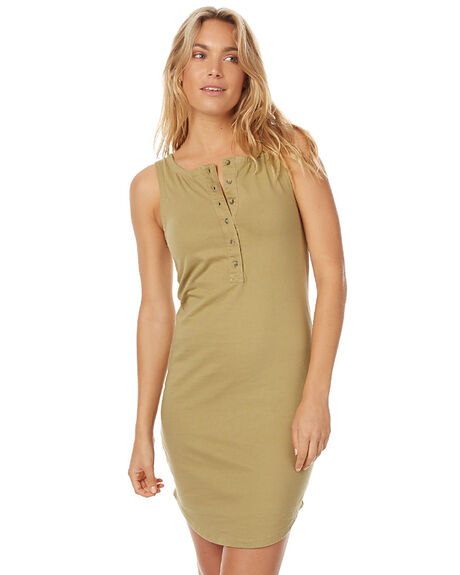 KHAKI WOMENS CLOTHING ZULU AND ZEPHYR DRESSES - ZZ1364KHA