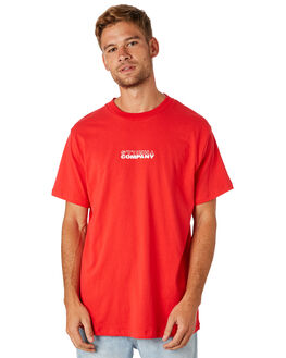 HERITAGE RED MENS CLOTHING THRILLS TEES - TS8-120HHGRED