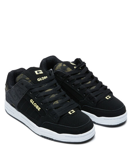 BLACK CAMO MENS FOOTWEAR GLOBE SNEAKERS - GBTILT-20373