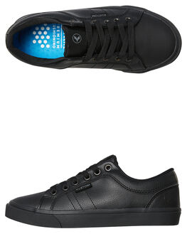 BLACK LEATHER KIDS BOYS KUSTOM SNEAKERS - 4884105BLTR