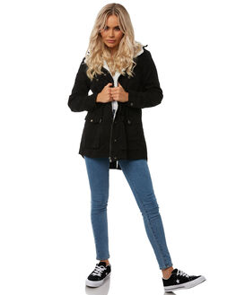 BLACK WOMENS CLOTHING ALL ABOUT EVE JACKETS - 6413070BLK