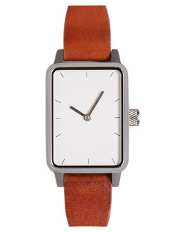 TAN SILVER WHITE WOMENS ACCESSORIES SIMPLE WATCH CO WATCHES - SW08-41TNSLV