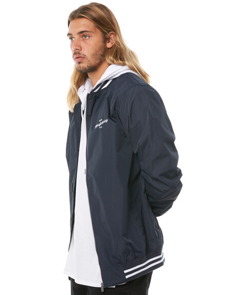 NAVY MENS CLOTHING RPM JACKETS - 8AMT25BNVY