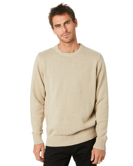 NATURAL MENS CLOTHING MR SIMPLE KNITS + CARDIGANS - M-07-31-10NAT