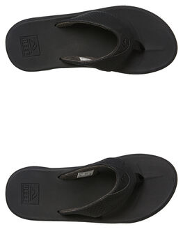 ALL BLACK MENS FOOTWEAR REEF THONGS - 2295ALB