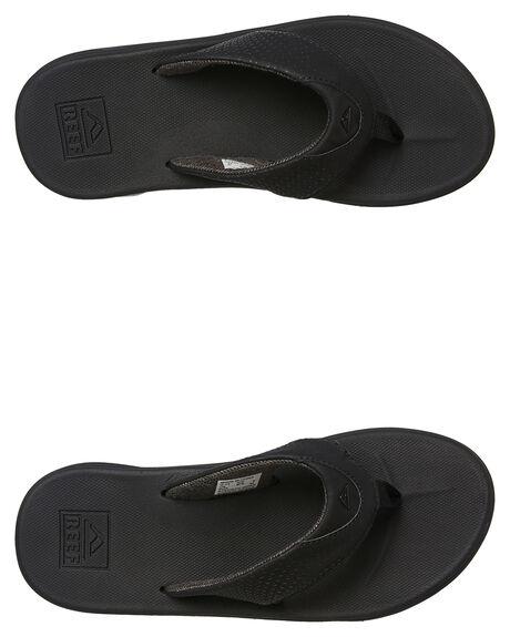 ALL BLACK MENS FOOTWEAR REEF THONGS - 2295ALB