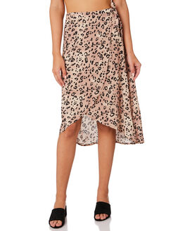 LEOPARD WOMENS CLOTHING SWELL SKIRTS - S8188471LEO