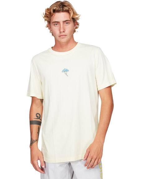 PALE YELLOW MENS CLOTHING RVCA TEES - RV-R192056-PAY