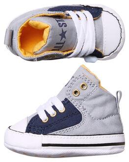 WOLF GREY NAVY KIDS BABY CONVERSE FOOTWEAR - 857432GRY
