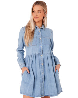CHAMBRAY WOMENS CLOTHING SWELL DRESSES - S8172449CHAMB